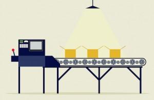 Conveyor Belt with Spotlight Image