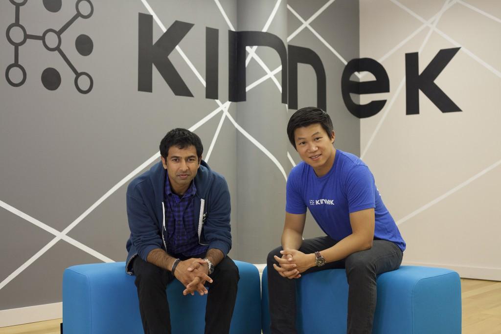 Co-founders Karthik Sridharan & Rui Ma in the Kinnek office in Manhattan