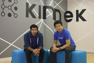 Co-founders Karthik Sridharan & Rui Ma in the Kinnek office in Manhattan