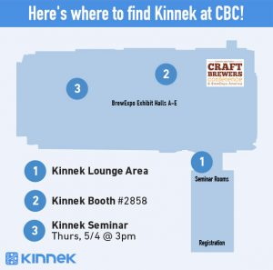 Discover Kinnek at Craft Brewers Conference and our lounge. Enter our raffle!
