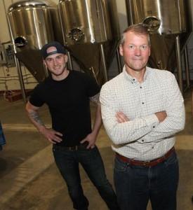 Owner Tim Koether with Head Distiller, Chris Degasperis