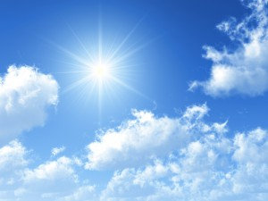 Forecast: sunny skies with few clouds